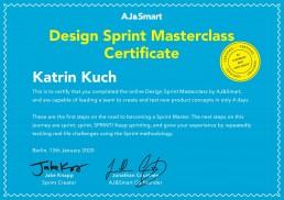 Design Sprint Zertifikat Katrin Kuch